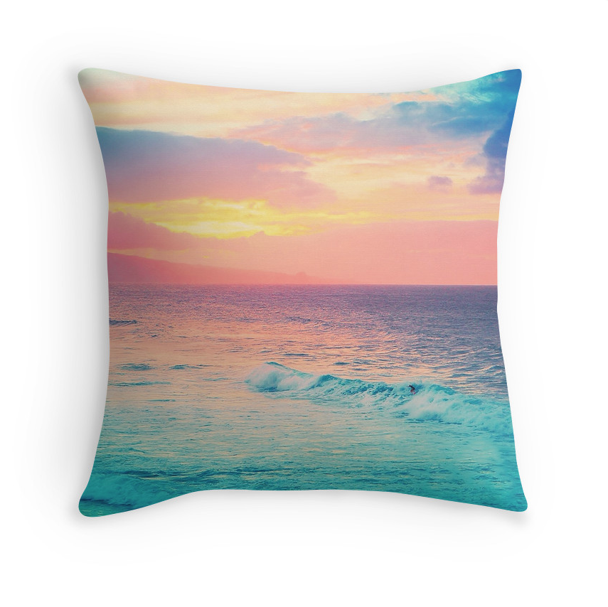 Ho'okipa's Heavenly Sunset Pillow