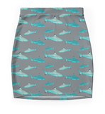 Grey Tahiti Shark Skirt