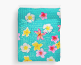 Colorful Floating Plumeria Duvet