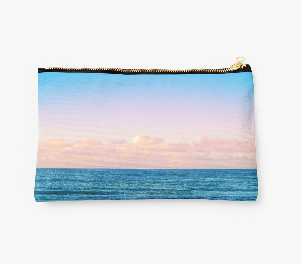 Cotton Candy Beach Sunset Clutch