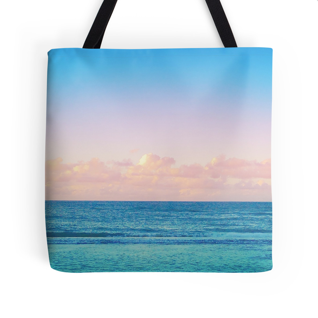 Cotton Candy Beach Sunset Tote Bag