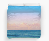 Cotton Candy Beach Sunset Duvet