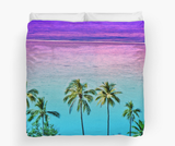 Moorea Sunset Palms Duvet