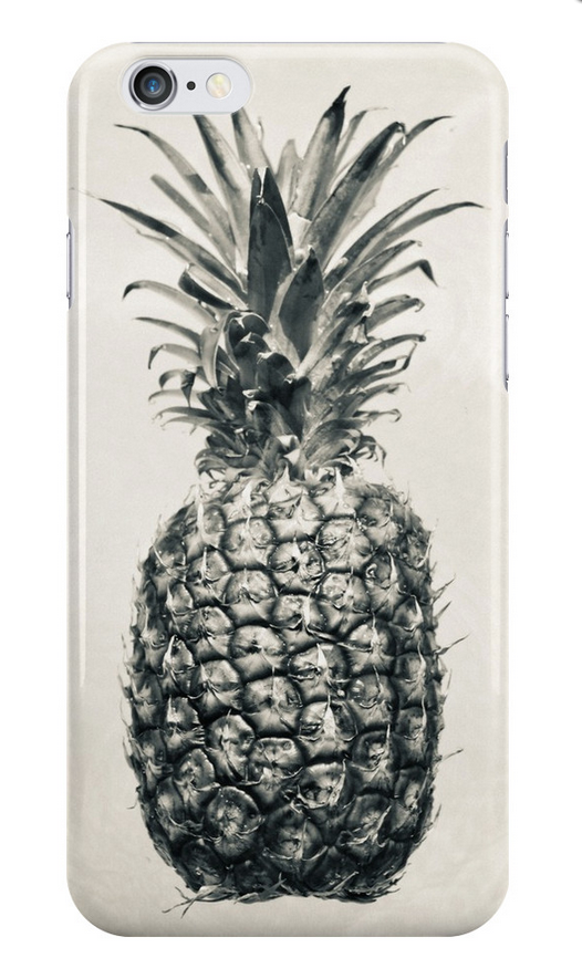 Vintage Black & White Pineapple iPhone Case