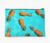Floating Yellow Plumeria Clutch