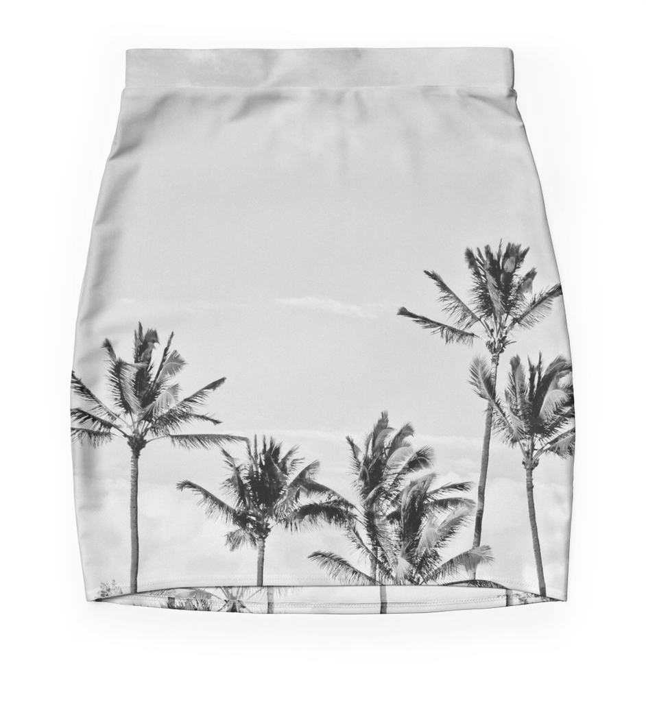 Black & White Palms Skirt