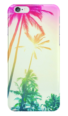 Rainbow Palm Skies iPhone Case