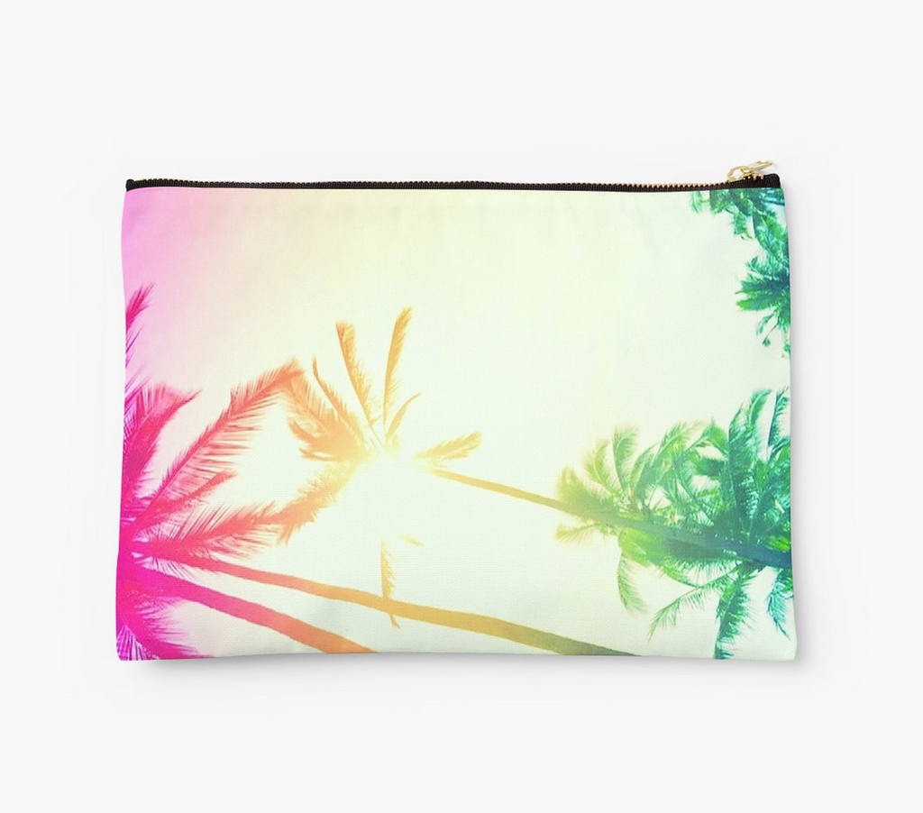 Rainbow Palm Skies Clutch