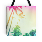 Rainbow Palm Skies Tote Bag