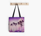 Purple Sunset Palms Tote Bag