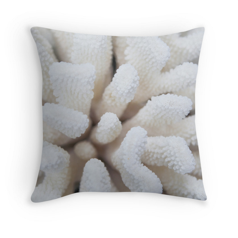 White Coral Pillow