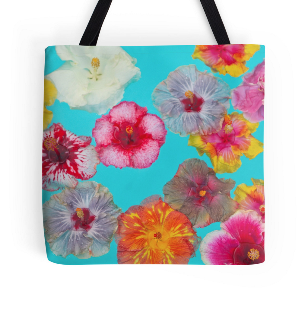 Hibiscus Pool Party Tote Bag