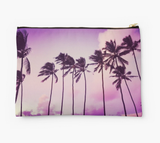 Purple Sunset Palms Clutch