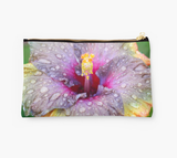 Purple Rainy Hibiscus Clutch