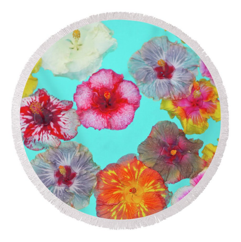 Hibiscus Pool Party Round Towel