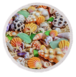 Seashells Round Towel