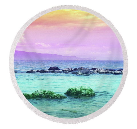 Baldwin Beach Sunset Round Towel