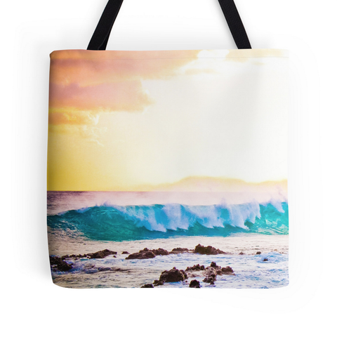 Secret Sunset Wave Tote Bag