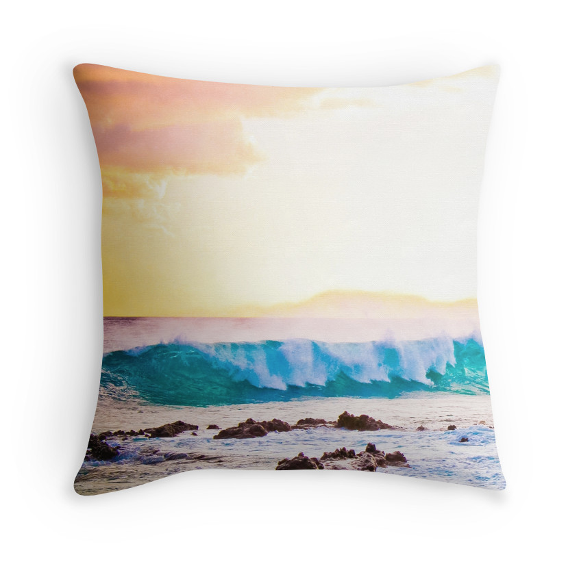 Secrets Sunset Wave Pillow