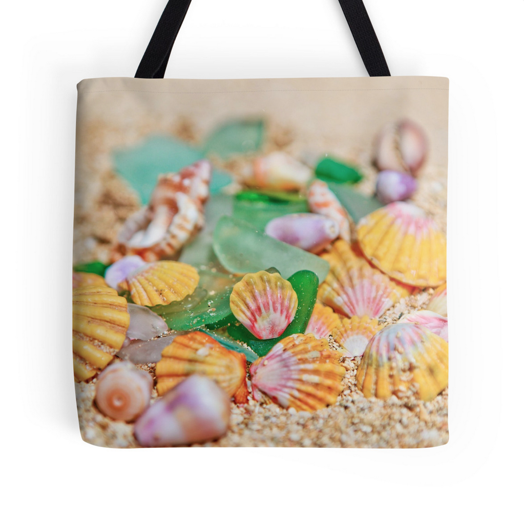 Soft Sunrise Shells Tote Bag