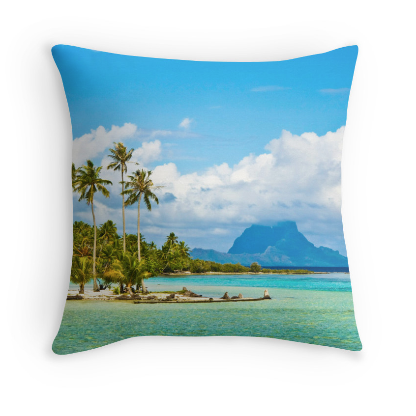 Tahiti Dream Island Pillow