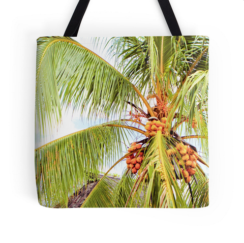Tahitian Coconut Tree Tote Bag