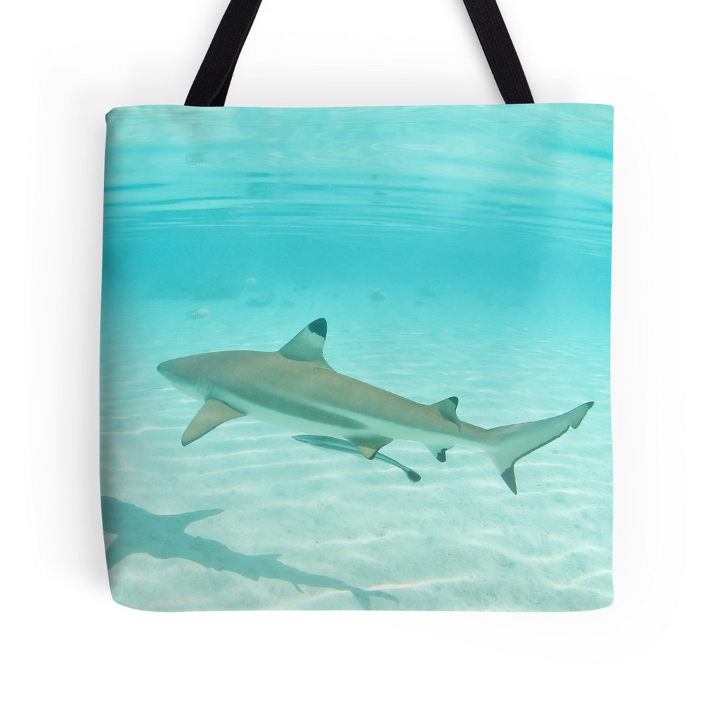 Tahitian Shark Tote Bag