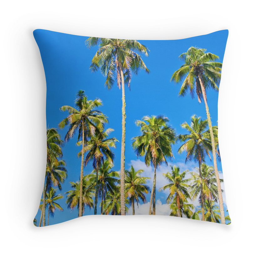Temae Palm Tree Skies Pillow