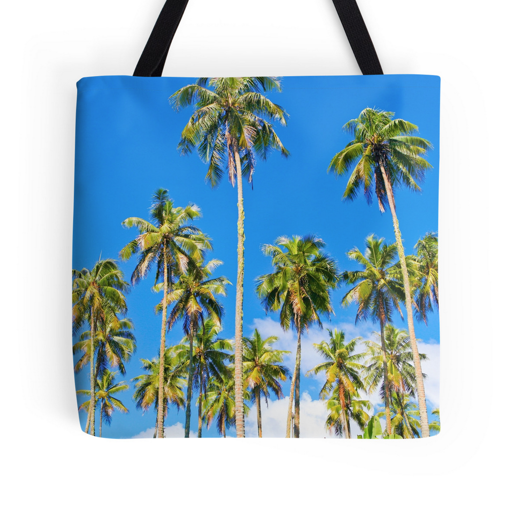 Temae Palm Trees Tote Bag