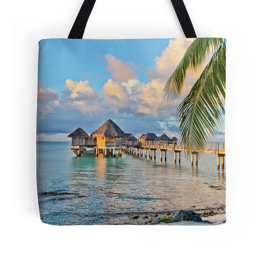 Tikehau Bungalows Tote Bag