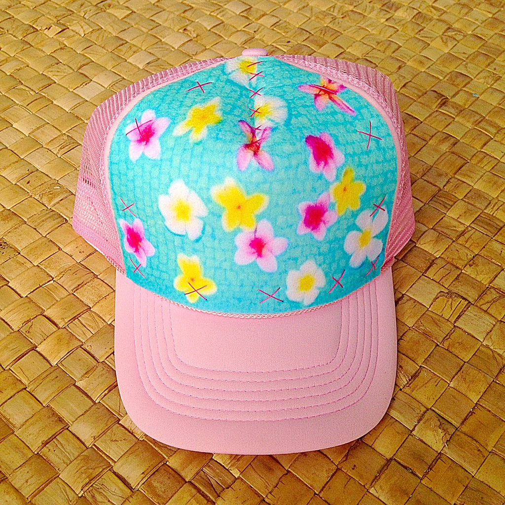 Child Colorful Floating Plumeria Hat