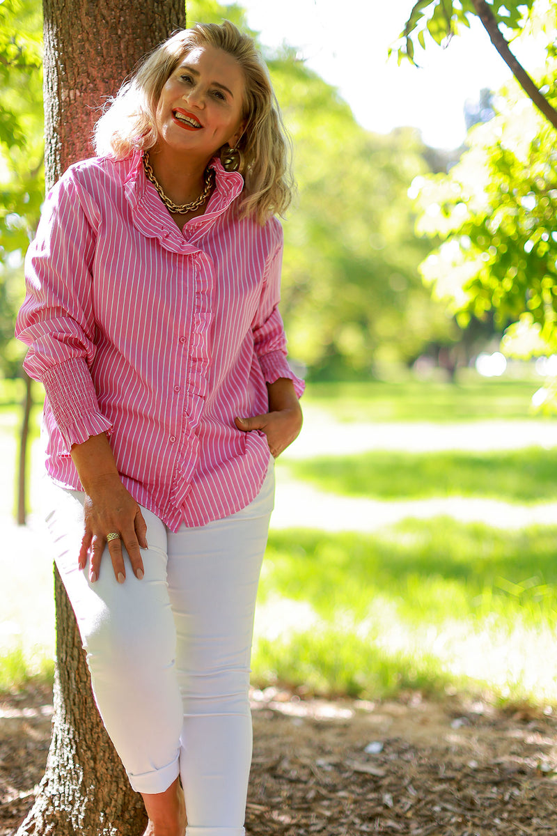 Enchanted Oversized Shirt - Ivory