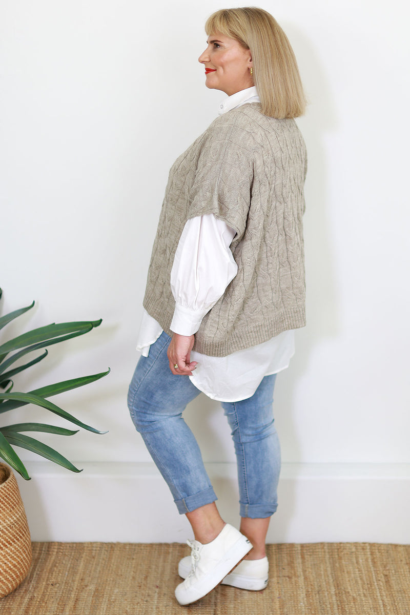 Willow Tunic | Seer Sucker Pin Stripe - Steel Blue