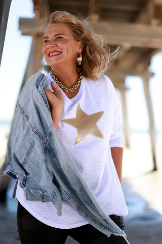 Wide Leg Pants in Natural