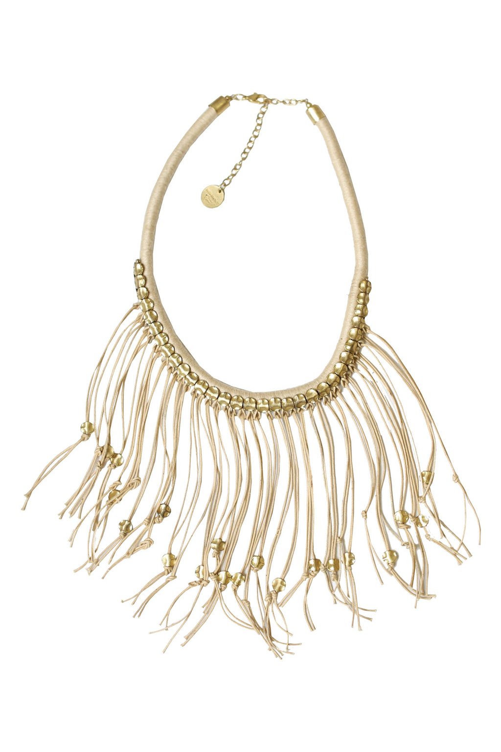 Studded Fringe Necklace