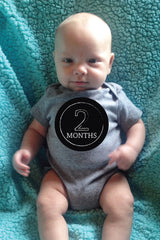 Month-by-Month Stickers {Chalkboard-Colour}