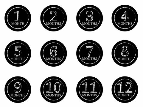 Month-by-Month Stickers {Chalkboard}
