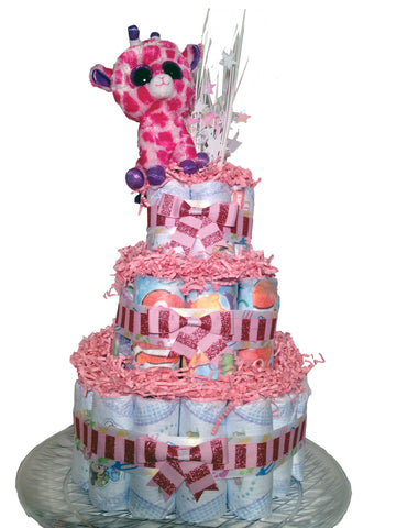 Diaperworks Surprise Cake- 3 Level - Pink
