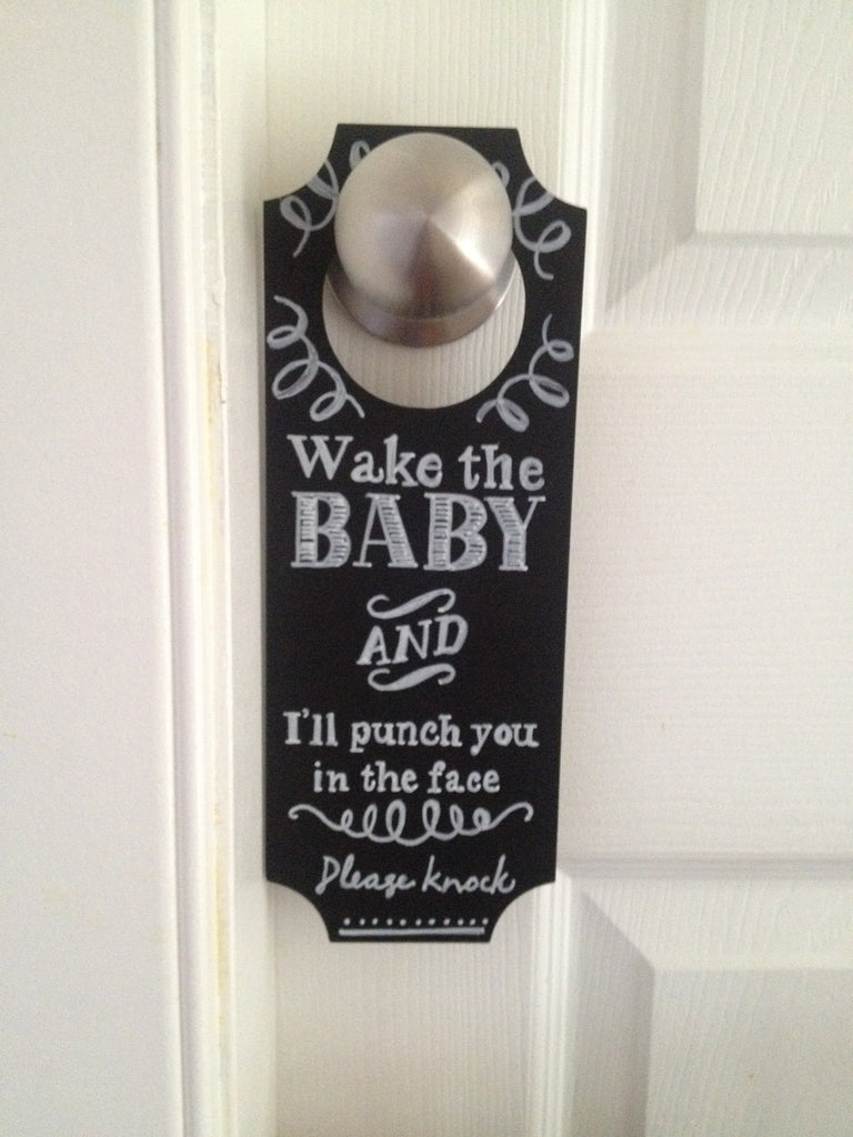 Doorbell Knocker Sign- Custom Made to Order
