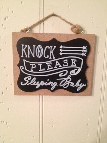 Doorbell Sign- Please Knock