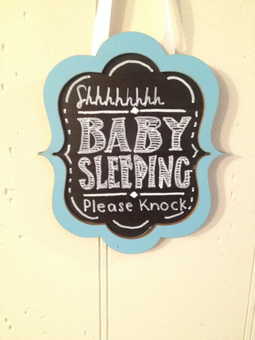 Doorbell Sign- Sleeping Baby
