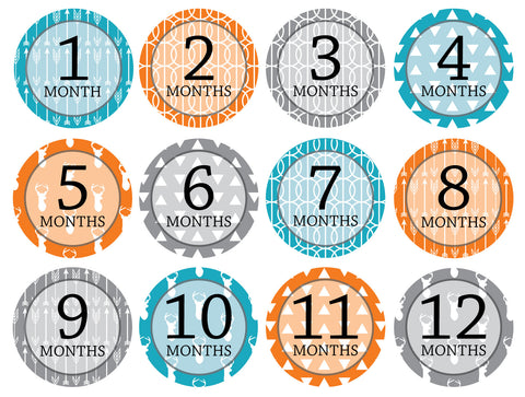 Month-by-Month Stickers {Huntsman Boy}