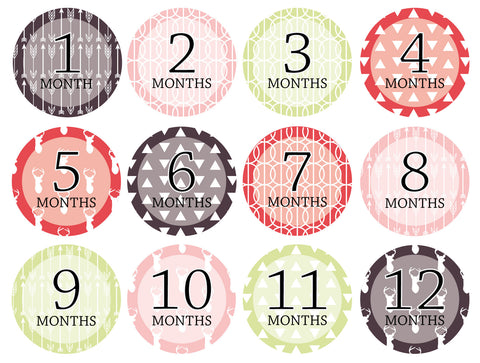 Month-by-Month Stickers {Huntsman Girl}