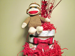 Sock Monkey Cake Topper Detail