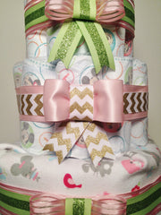 Close up Vintage Diaper Cake