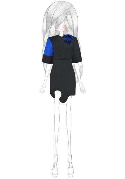 ALTHEA Appliquéd Color-block Top