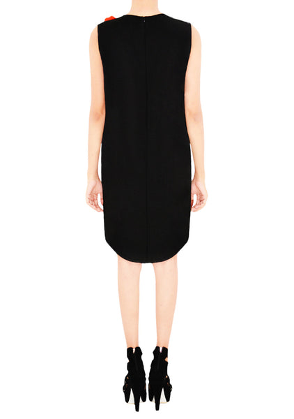 ALTHEA Appliquéd Uneven Hemline Dress
