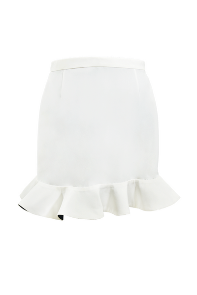CALLA Color - Block Peplum Mini Skirt