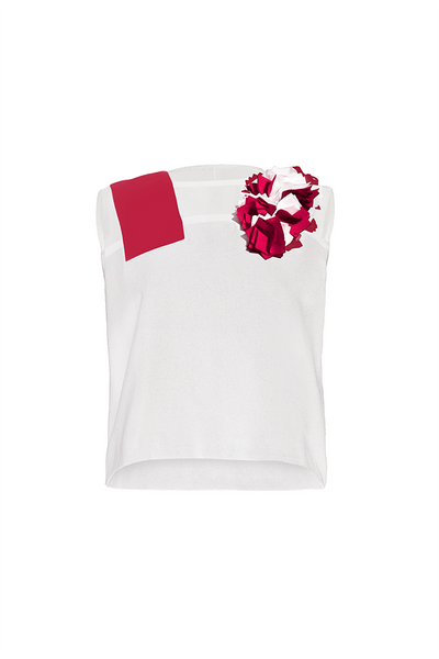 ALTHEA Appliquéd Sleeveless Top
