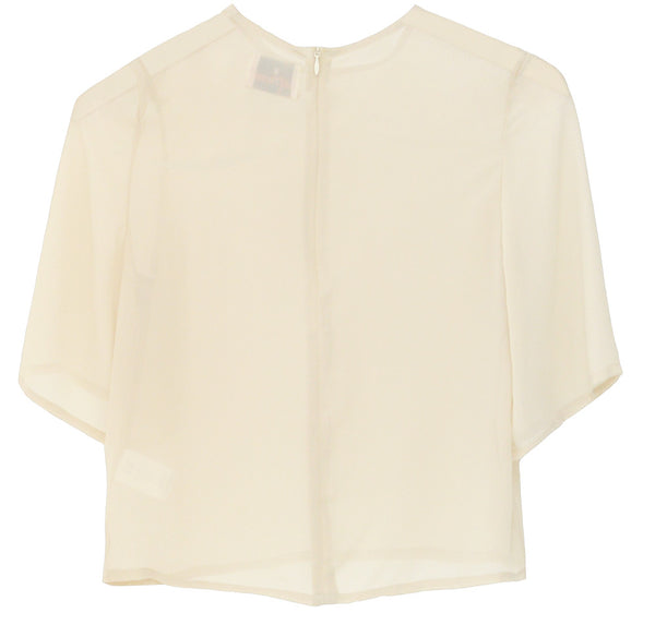 EVANT Sheer cropped top